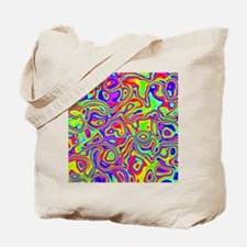 Rainbow Oil Psychedelic Pattern Tote Bag