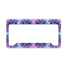 Turquoise Pink and Purple Fra License Plate Holder