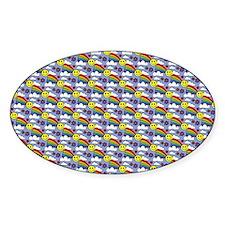 Kawaii Smiley Face Rainbow Pattern Decal