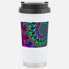 Purple Green and Red Bo Stainless Steel Travel Mug