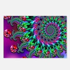 Purple Green and Red Boke Postcards (Package of 8)