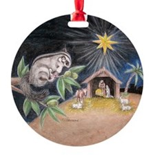 At the Manger Ornament