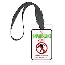 No Shambling Zone Sign Zombie De Luggage Tag