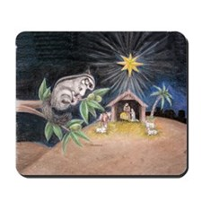 At the Manger Mousepad