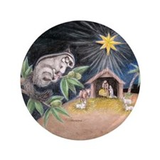 """At the Manger 3.5"""" Button"""