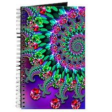 Purple Green and Red Bokeh Fractal Pattern Journal