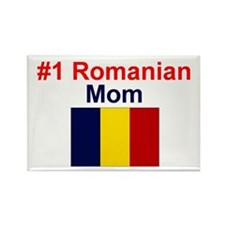 #1 Romanian Mom Rectangle Magnet