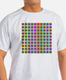 Psychedelic Rainbow Spots Pattern T-Shirt