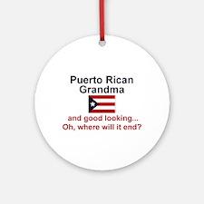 Puerto Rican Grandma-GdLkg Ornament (Round)