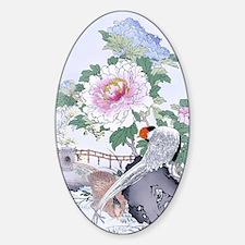3x5 rug Pheasant Peony Floral Botan Decal