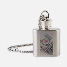 3x5 rug Pheasant Peony Floral Botan Flask Necklace