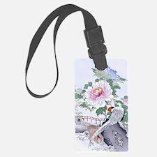 3x5 rug Pheasant Peony Floral Bo Luggage Tag