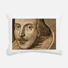 Droeshouts Shakespeare Rectangular Canvas Pillow