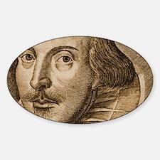 Droeshouts Shakespeare Sticker (Oval)