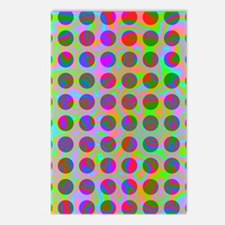 Psychedelic Rainbow Spots Postcards (Package of 8)