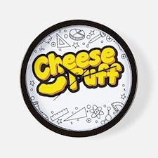 Cheese Puff Scientist Wall Clock