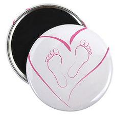 Pink footprints in Love Magnet