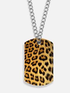 Leopard print Dog Tags