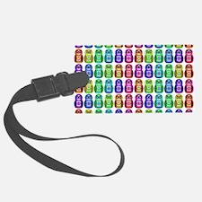 Rainbow Matryoshka Owl Pattern Luggage Tag