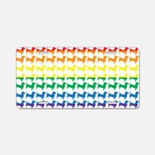 Doxie Gay Pride Flag Print Aluminum License Plate