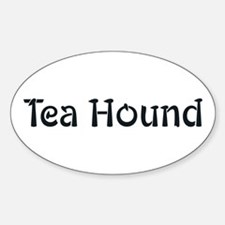 Tea Hound Oval Decal