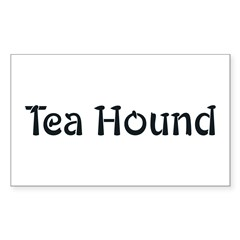 Tea Hound Rectangle Decal