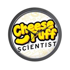 Cheese Puff Scientist Wall Clock