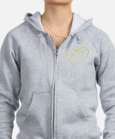 Yellow Footprints in Love Zip Hoodie
