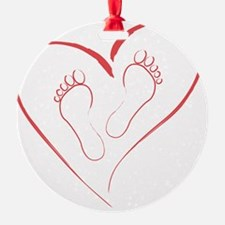 Red Footprints in Love Ornament