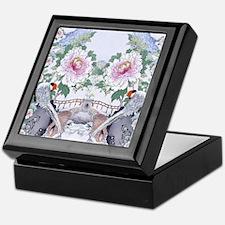 Suede Pillow Pheasant Peony Floral Bo Keepsake Box
