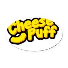 Cheese Puff Scientist Oval Car Magnet