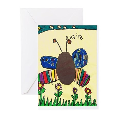 Claire's Butterfly Greeting Cards (Pk of 10)