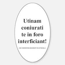 Latin Phrase Oval Decal