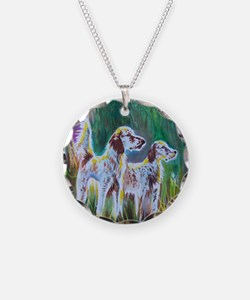 English Setters Necklace