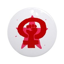 Socialist Feminist No Text Ornament (Round)