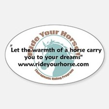 The Warmth of a Horse Oval Decal