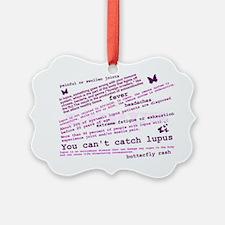 Lupus Facts Ornament
