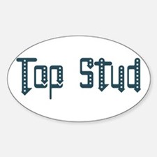 Top Stud Oval Decal