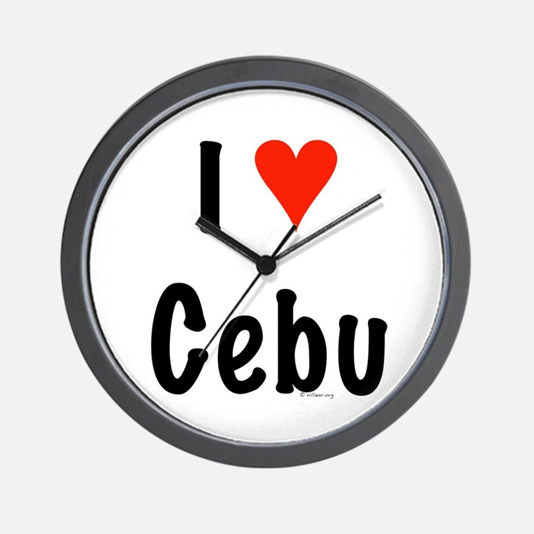 I love Cebu Wall Clock