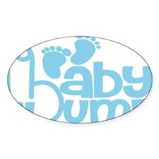 Blue Baby Bump Decal