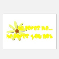 Loves Me, Loves You Not Postcards (Package of 8)