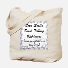 Toller Pawprint Tote Bag