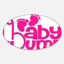 Hot Pink Baby Bump Decal