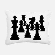 Chessmen Rectangular Canvas Pillow