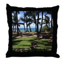 Maui Serenity (mousepad) Throw Pillow