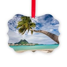 Bora Bora palm tree island Ornament