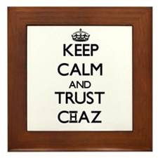 Keep Calm and TRUST Chaz Framed Tile