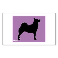 Buhund iPet Rectangle Decal