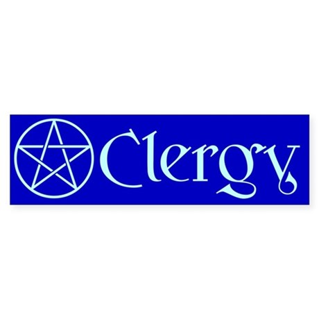 Blue Clergy Bumper Sticker (Pentacle)