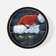 Kitty Claws Secret Santa Wall Clock
